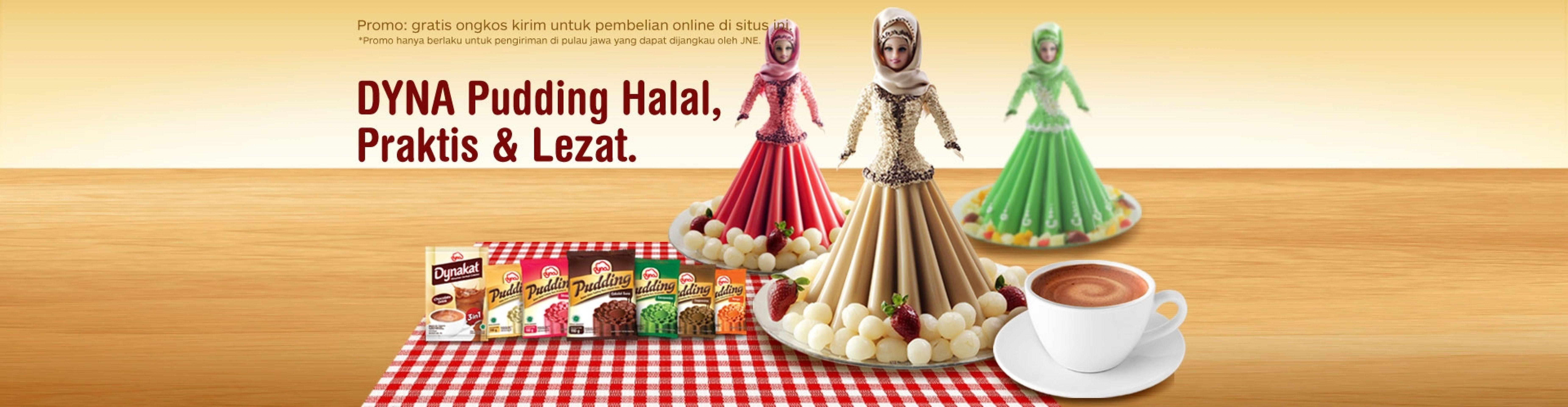 Dyna Pudding Halal, Praktis, dan Lezat
